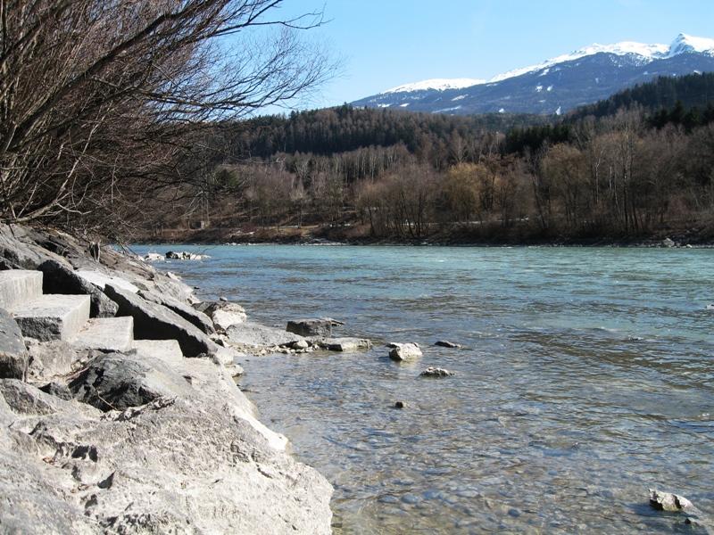 Fluss Inn bei Innsbruck
