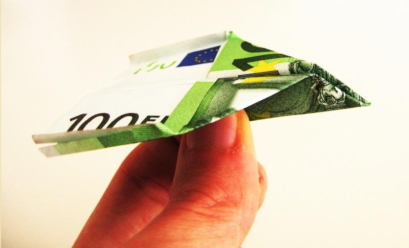 Geldflieger – Papierflieger