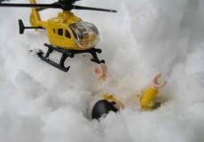Rettungshubschrauber Lawine