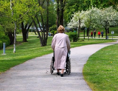 Ausflug-Senioren-Rollstuhl