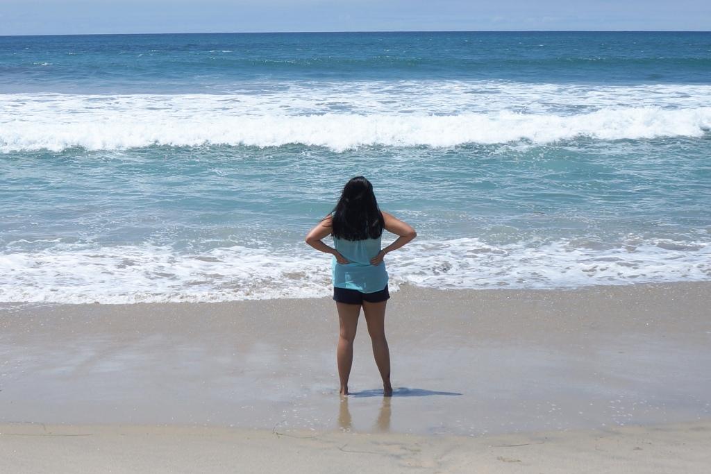 Blick hinaus auf das Meer