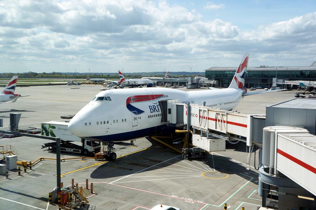 Boarding-Flugzeug