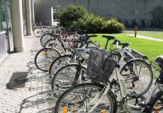 Fahrräder vor Universität