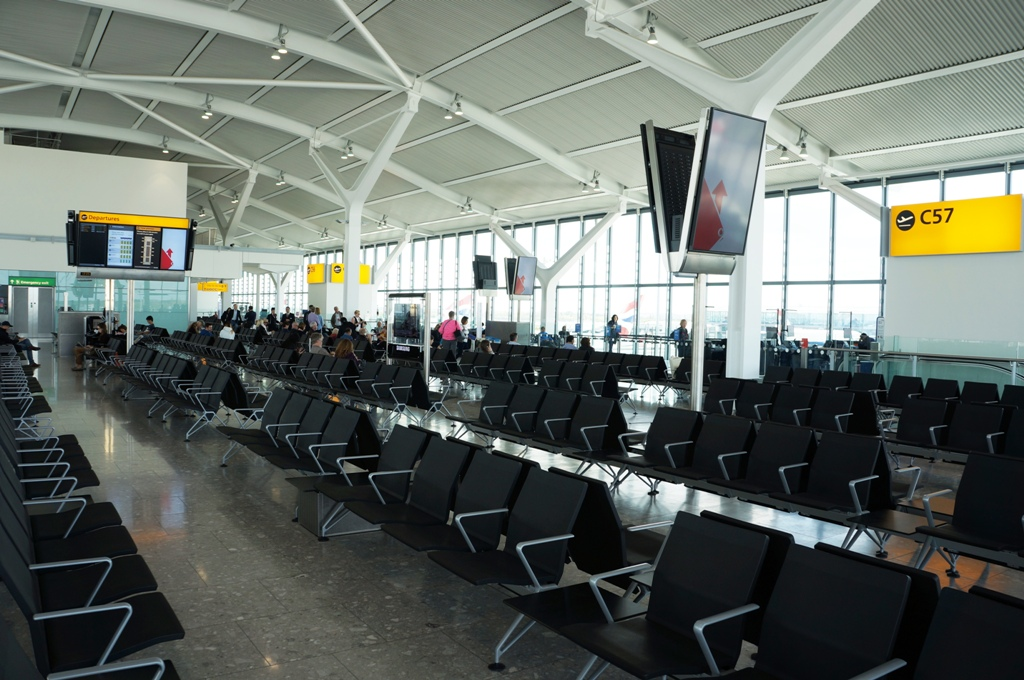 Flughafen-Gate