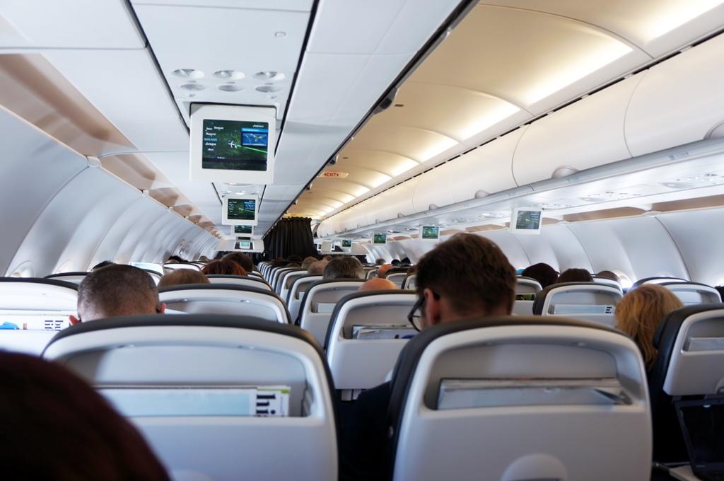 Flugzeug Willkommen an Bord