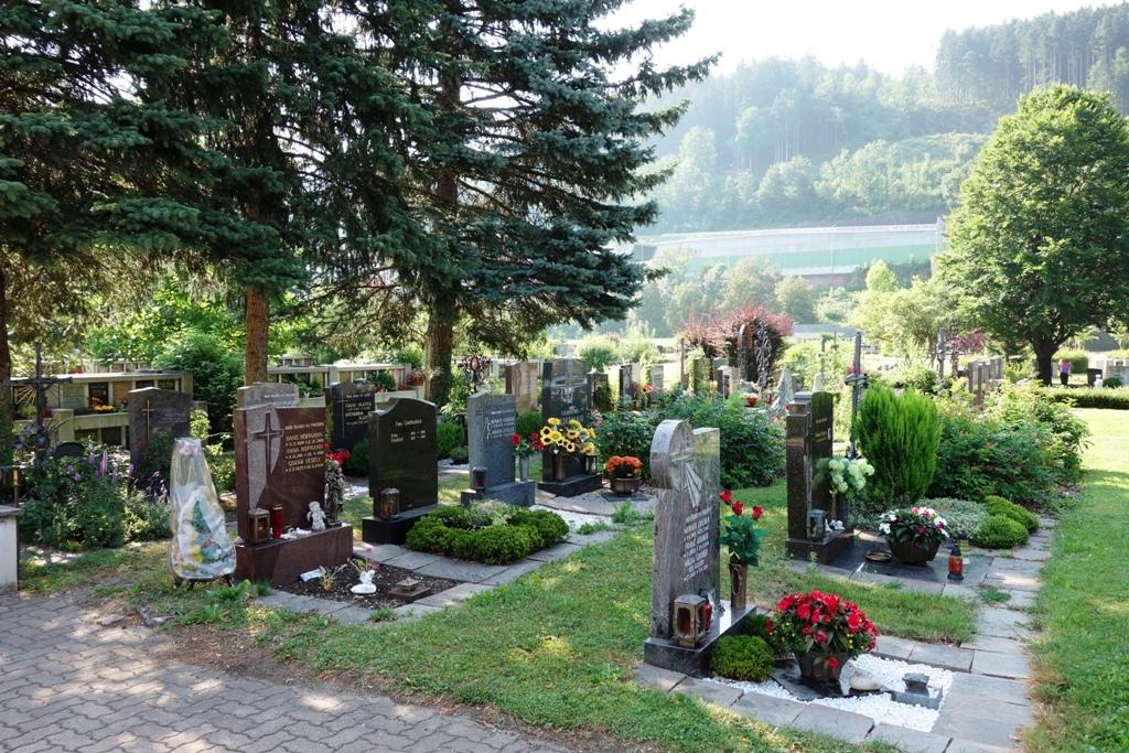 Grabsteine-Friedhof
