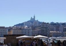 Marseille Basilique Notre Dame de la Garde alter Hafen