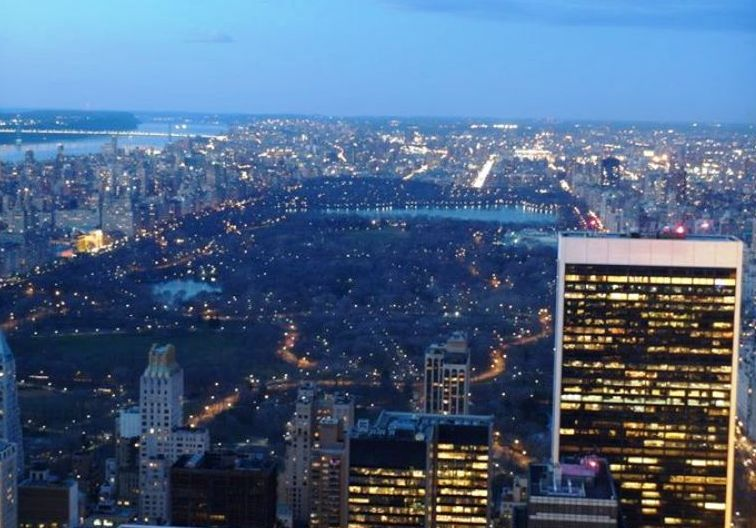 New York Central Park Nachts