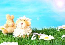 Frohe Ostern – Osterlamm und Osterhase