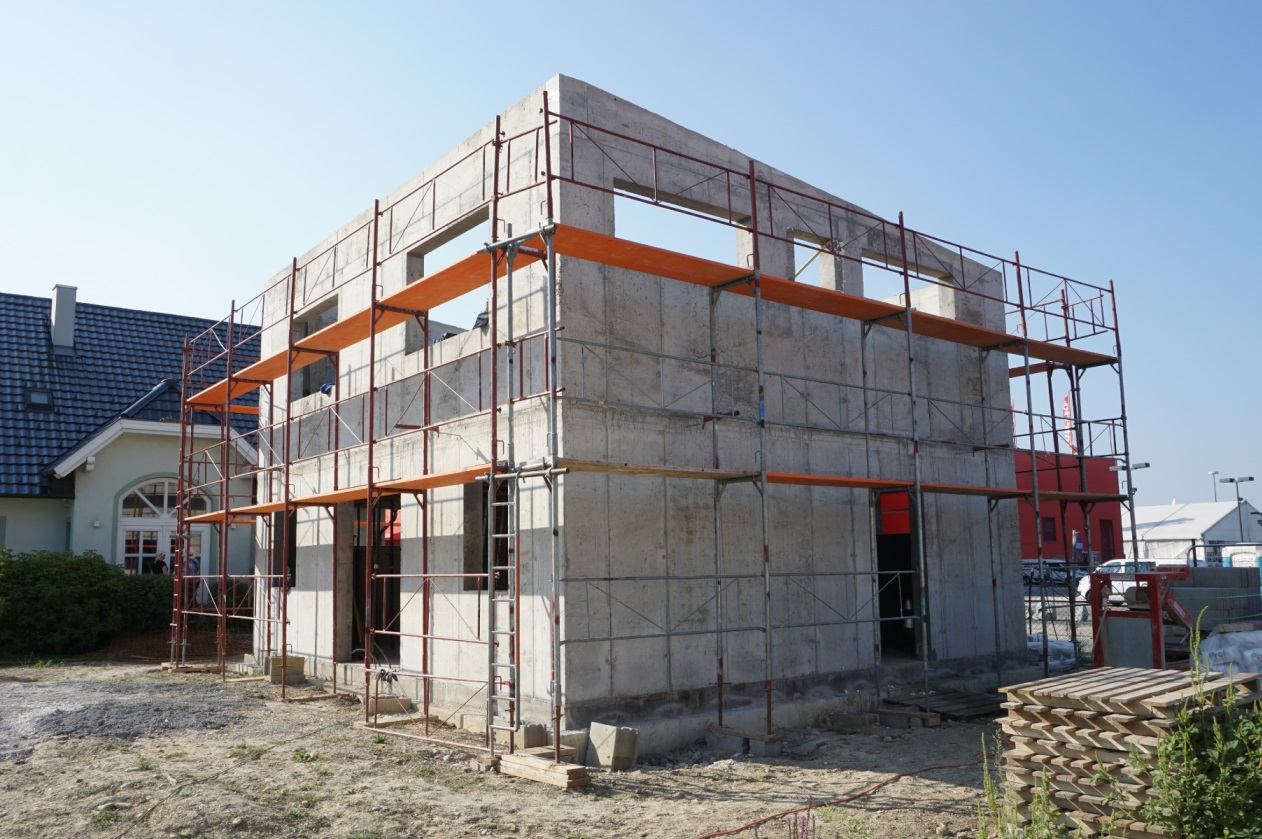 Einfamilienhaus Rohbau Baustelle