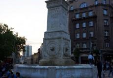 Terazije Hauptplatz von Belgrad