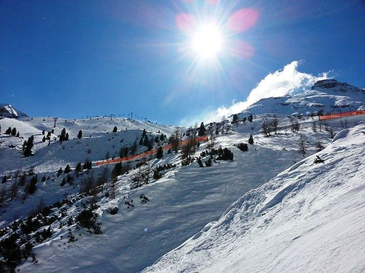 Alpen Berge Schnee Lawinengefahr