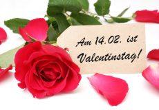 Valentinstag ist am 14.02.
