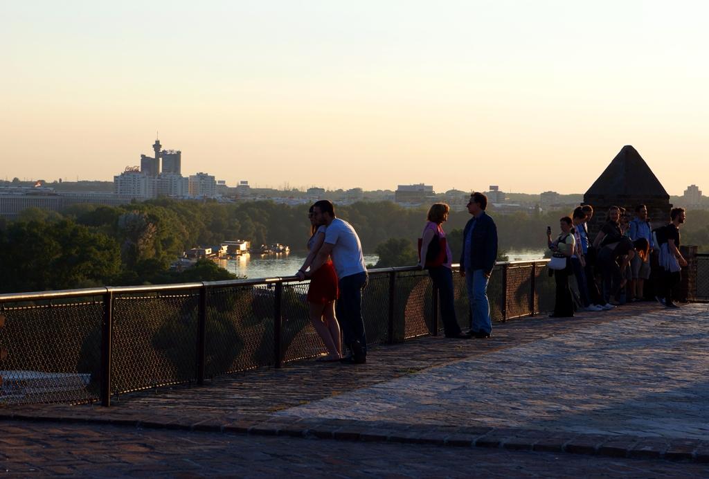 Aussicht von Kalemegdan auf GENEX Tower