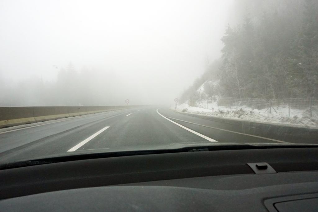 Nebel auf der Autobahn