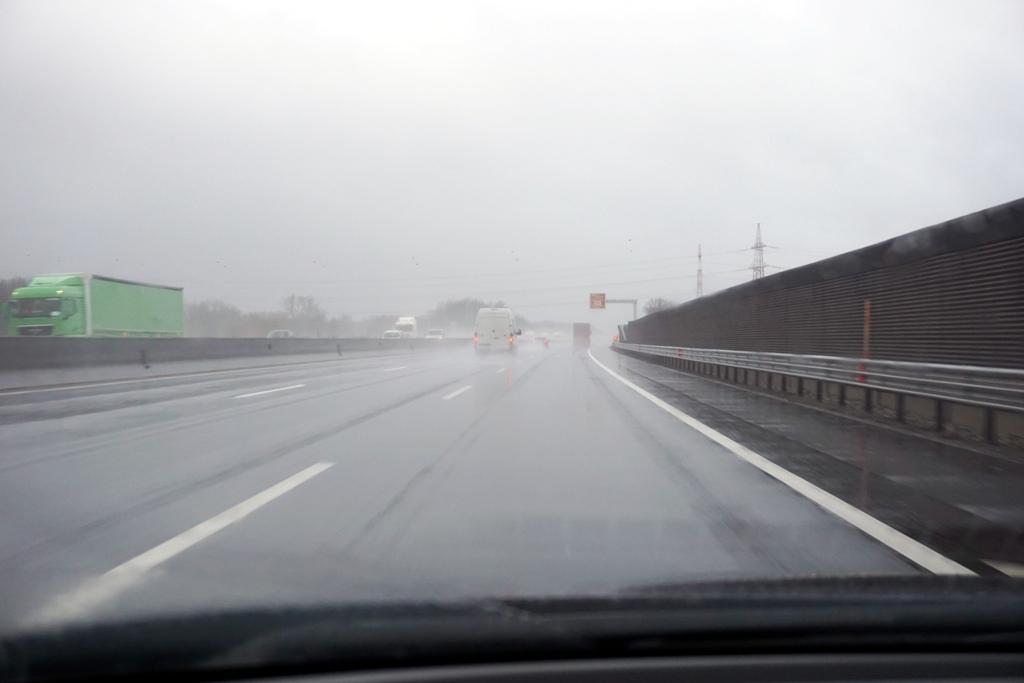 Schlechte Sicht auf der Autobahn