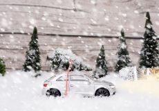 Bald ist Weihnachten Schneefall