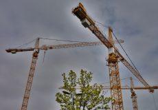 Baukräne Baustelle