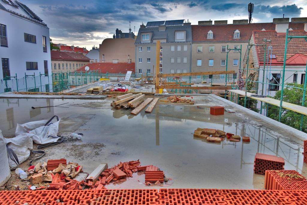 Dachausbau Baustelle