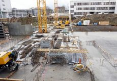 Fundament / Baustelle / Eisenstangen