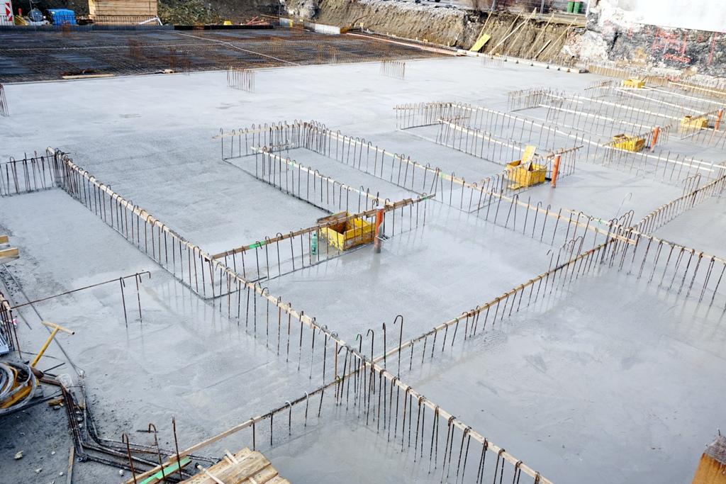 Aufbau Fundament / Baustelle