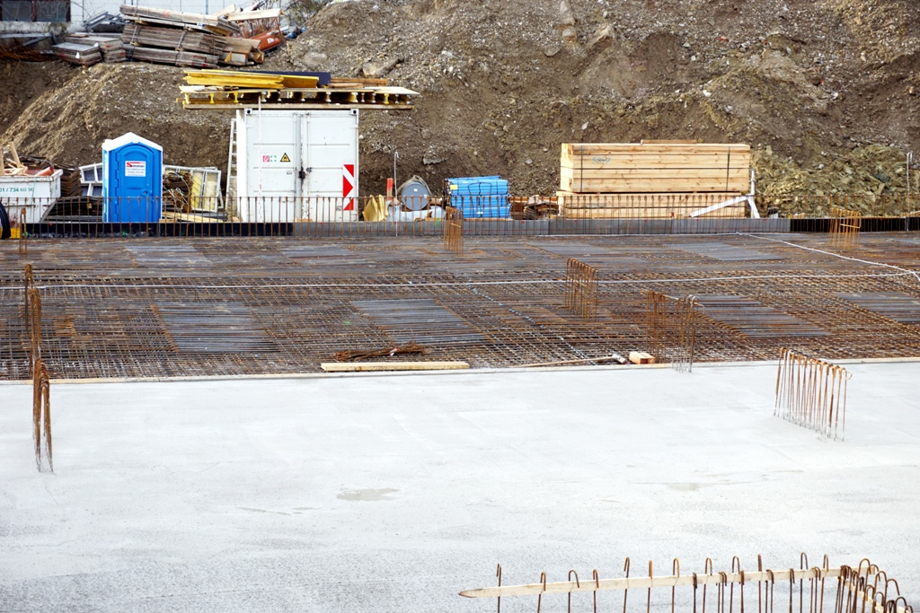 Sohlplatte / Baustelle Fundament