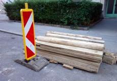 Holzbretter Baustelle