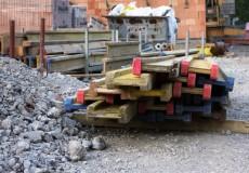 Schotter auf Baustelle