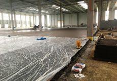 Betonboden Folienabdeckung