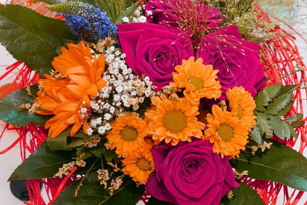 Blumenstrauß mit bunten Farben
