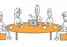 Besprechung – Business – Meeting