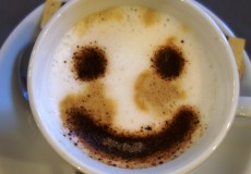 Smiley Milchschaum