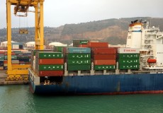 Containerschiff Containerhafen