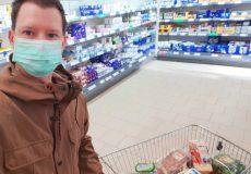Coronavirus Mundschutz Supermarkt