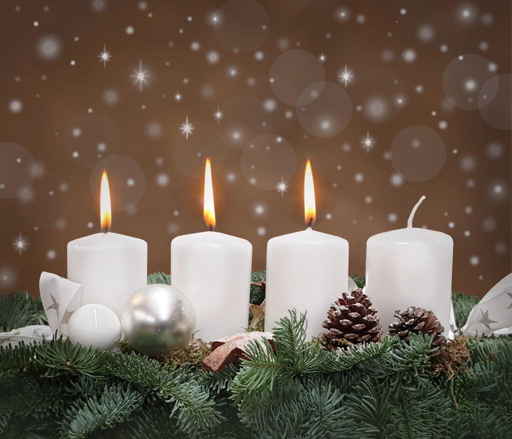 Dritter 3 Advent Kerze Bilder