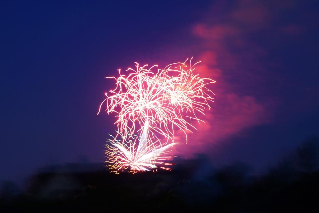 Feuerwerk Rot