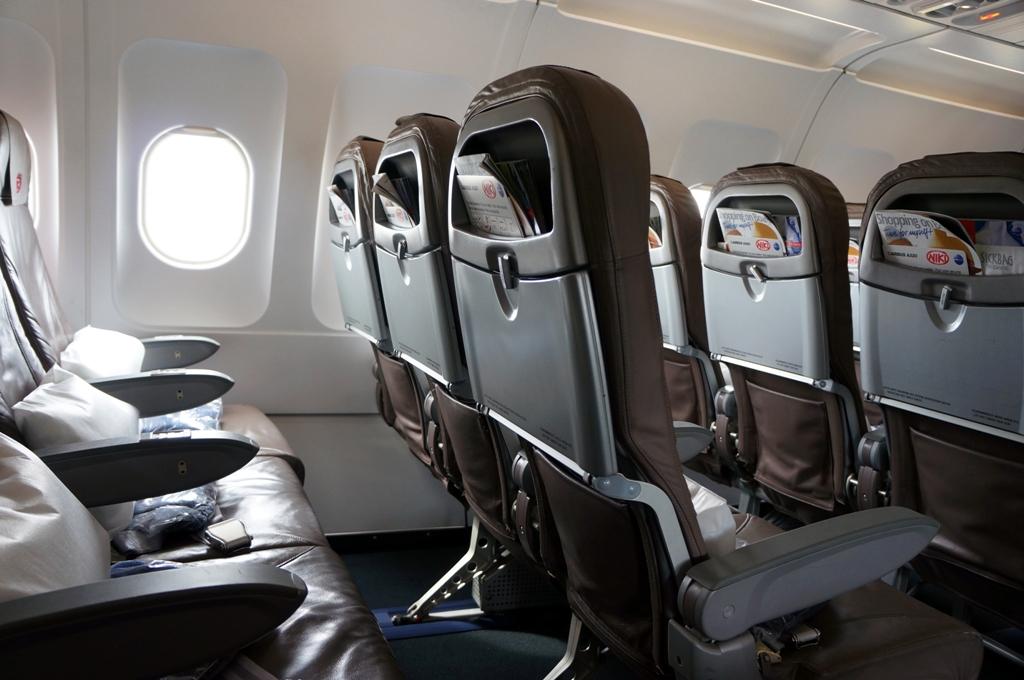 Sitze im Flugzeug