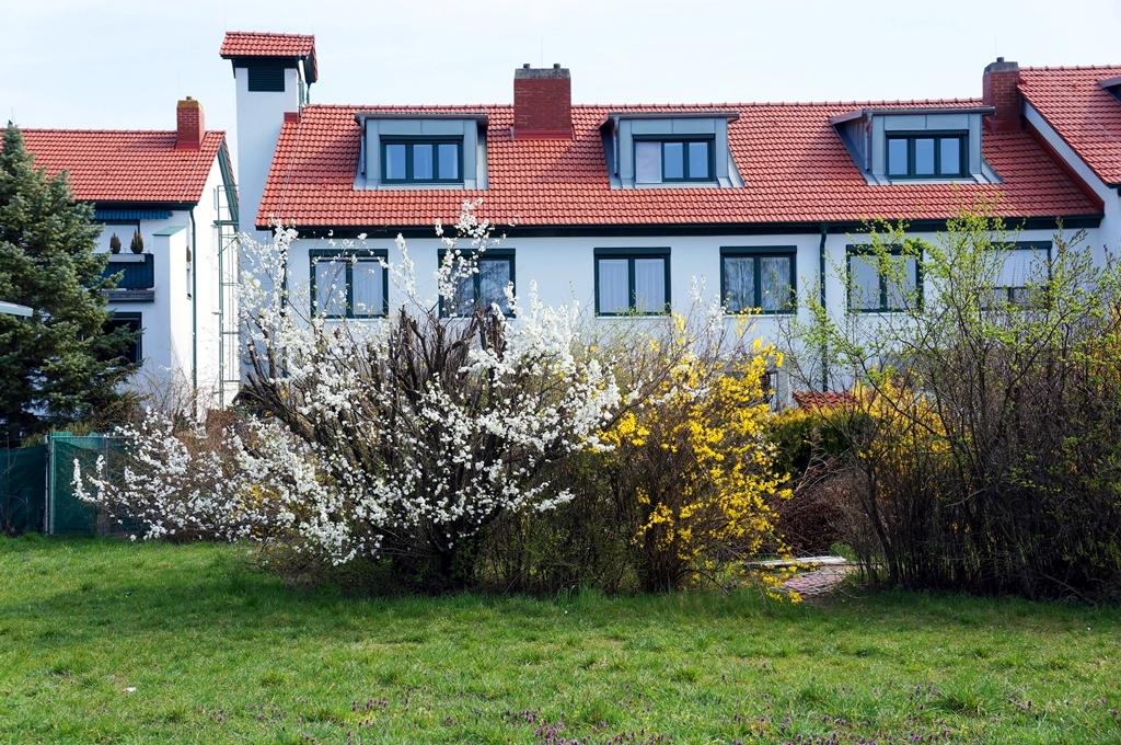 frühling-reihenhaus