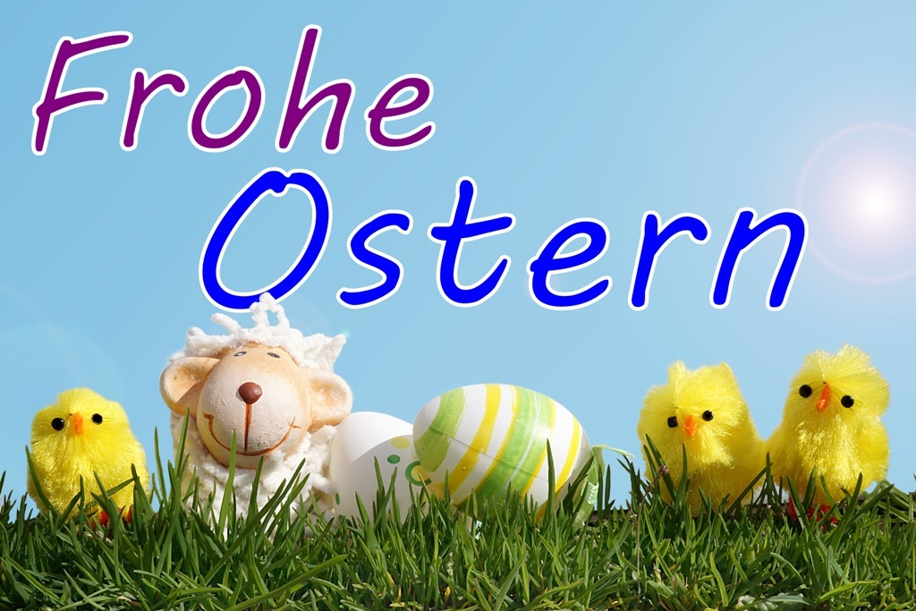 Frohe Ostern Osterkarte