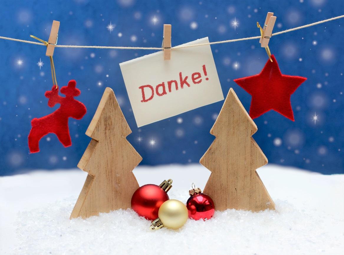 Frohe Weihnachten DANKE