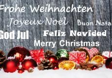 Frohe Weihnachten neu
