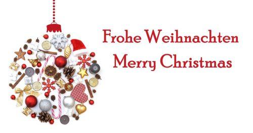 Frohe Weihnachten Weihnachtskugel