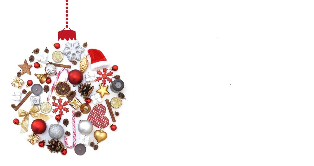 Frohe Weihnachten / Weihnachtskugel ohne Text