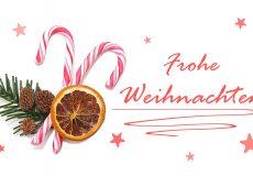 Frohe Weihnachten / Zuckerstange