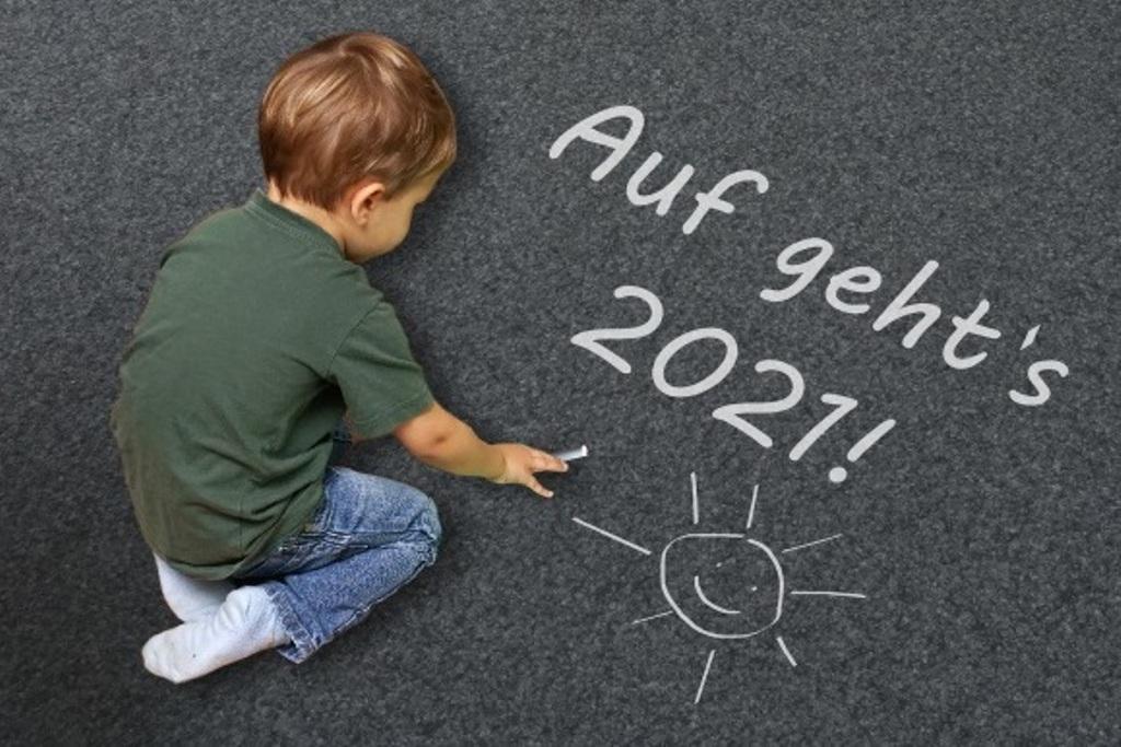 Frohes neues Jahr 2021 - lizenzfreie Fotos / Bilder herunterladen ohne Anmeldung