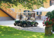 Golfplatz Golfwagen