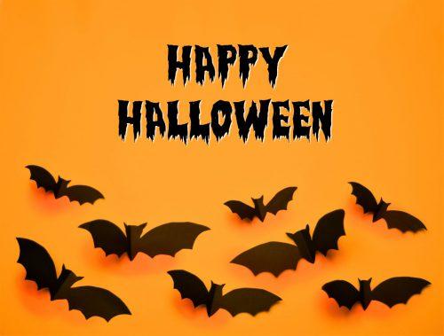 Happy Halloween Bild mit Spruch