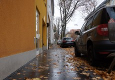 Herbstliches Wetter in der Stadt