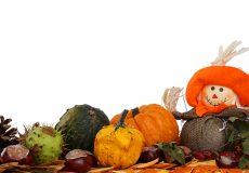 Herbstlandschaft – Kürbis, Strohpuppe
