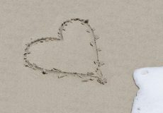 Herz im Sand / Strand